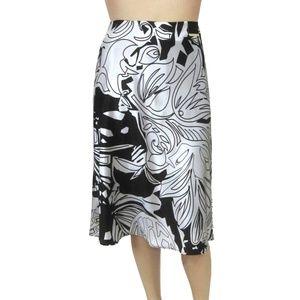 Lane Bryant New A-Line Flared Skirt Black White